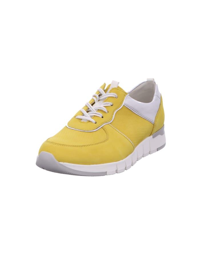 Waldläufer Damen Schnürschuh in gelb, gelb