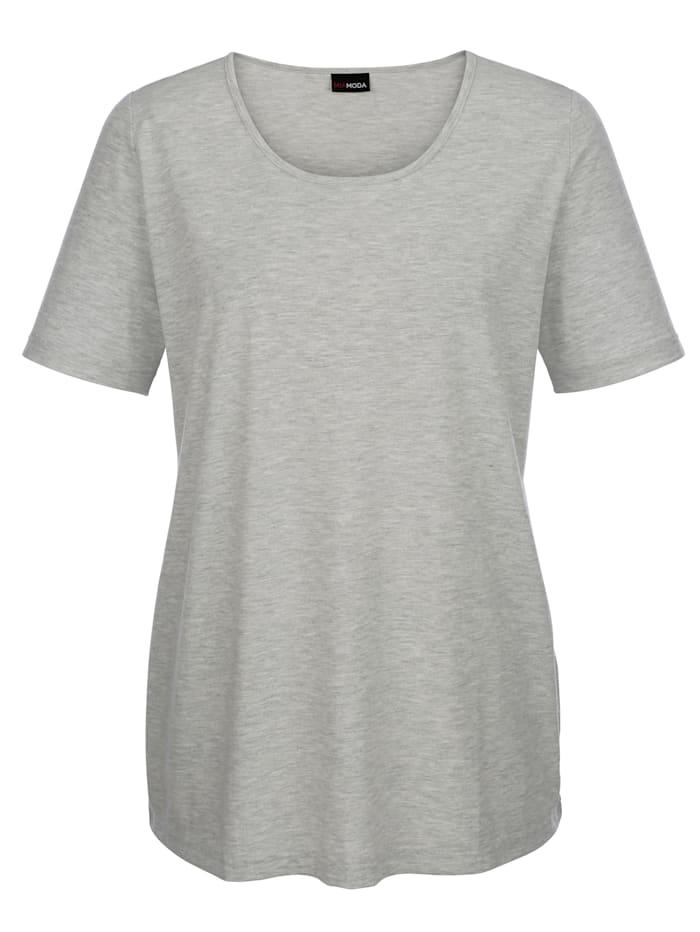 MIAMODA Shirt in kurzer Länge, Silbergrau melange