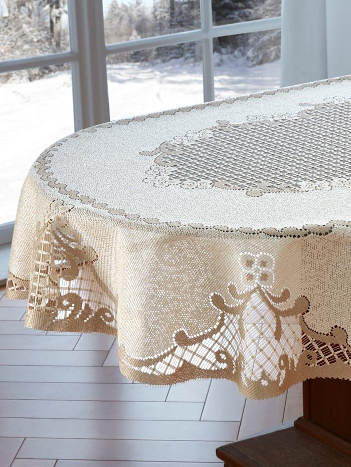 Webschatz Tischwäsche 'Rahel', creme