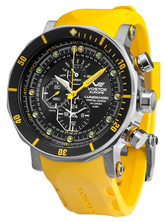 Vostok Europe Herren-Alarm-Chronograph Lunokhod 2, Schwarz