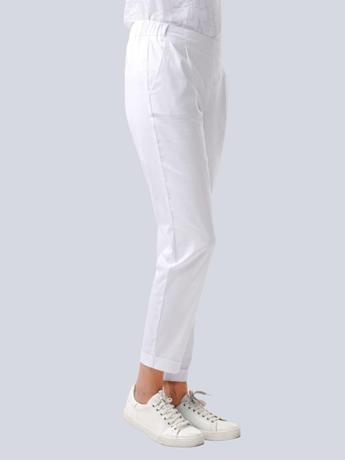 Alba Moda Hose in bequemer Schlupfform, Weiß