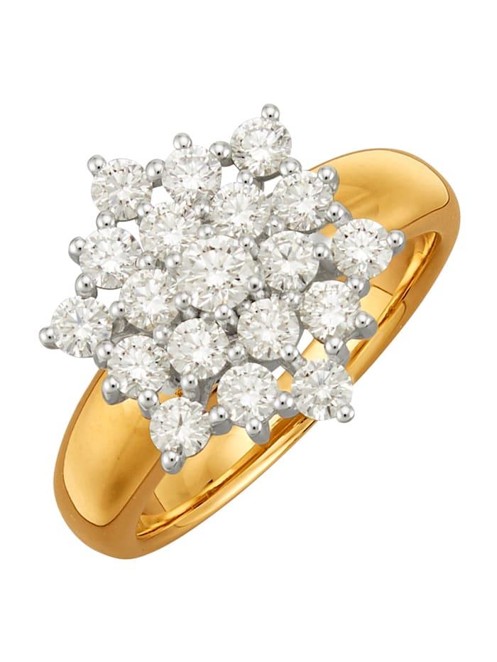 Amara Diamant Damenring, Weiß
