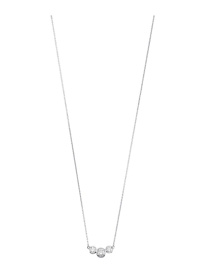 Diemer Platin Timanttikoristeltu platinakaulakoru, Valkoinen