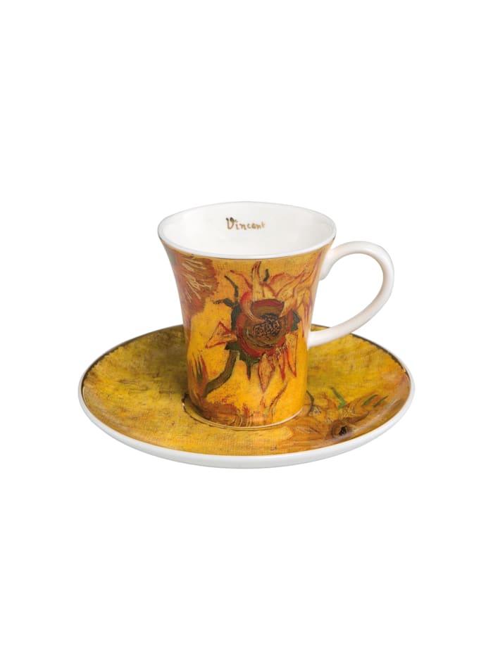 Goebel Goebel Espressotasse Vincent van Gogh - Sonnenblumen I, Van Gogh - Sonnenblumen