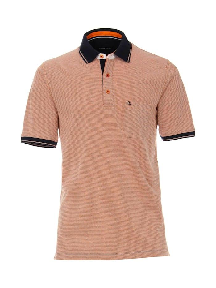 CASAMODA Polo-Shirt andere Muster, Orange