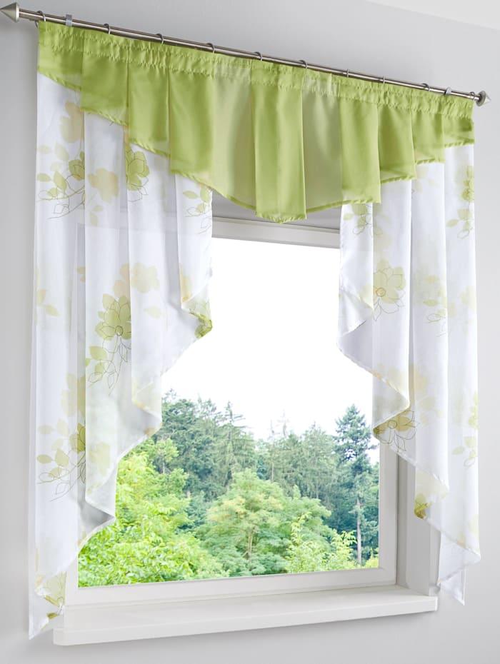 Webschatz Kleinfenster Gardine, Jenny, Grün