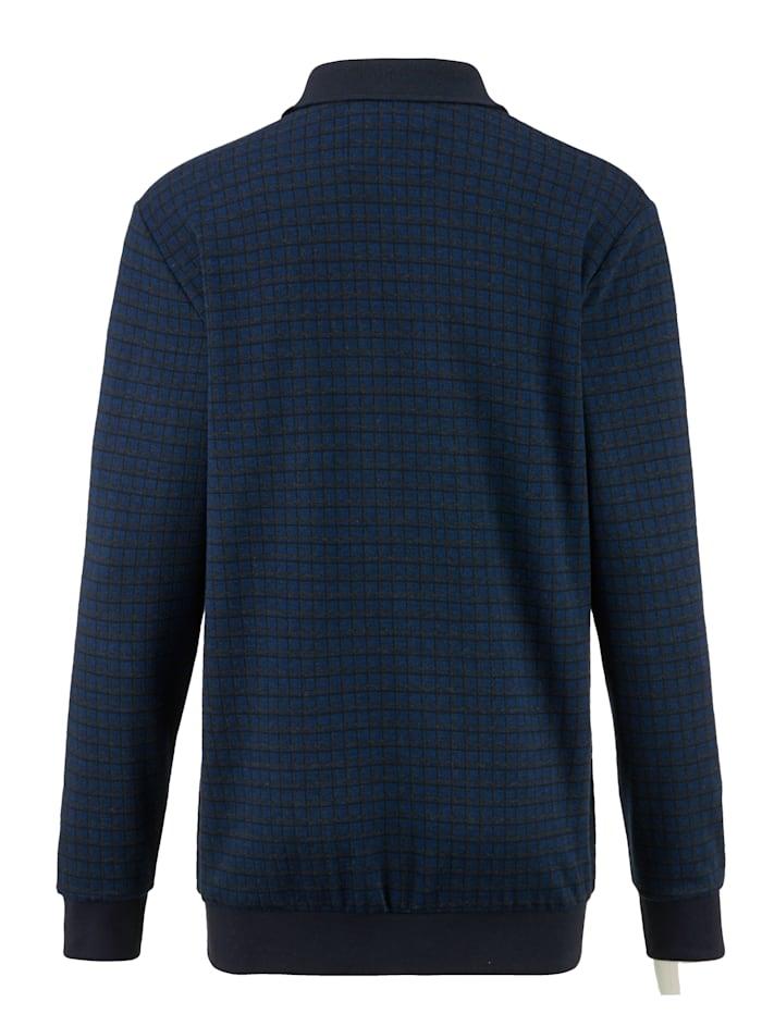 Sweat-shirt avec empiècements en velours