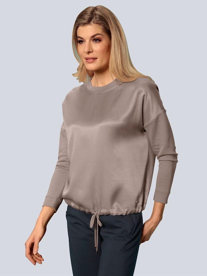 BRAX Sweatshirt in klassischer Form, Beige
