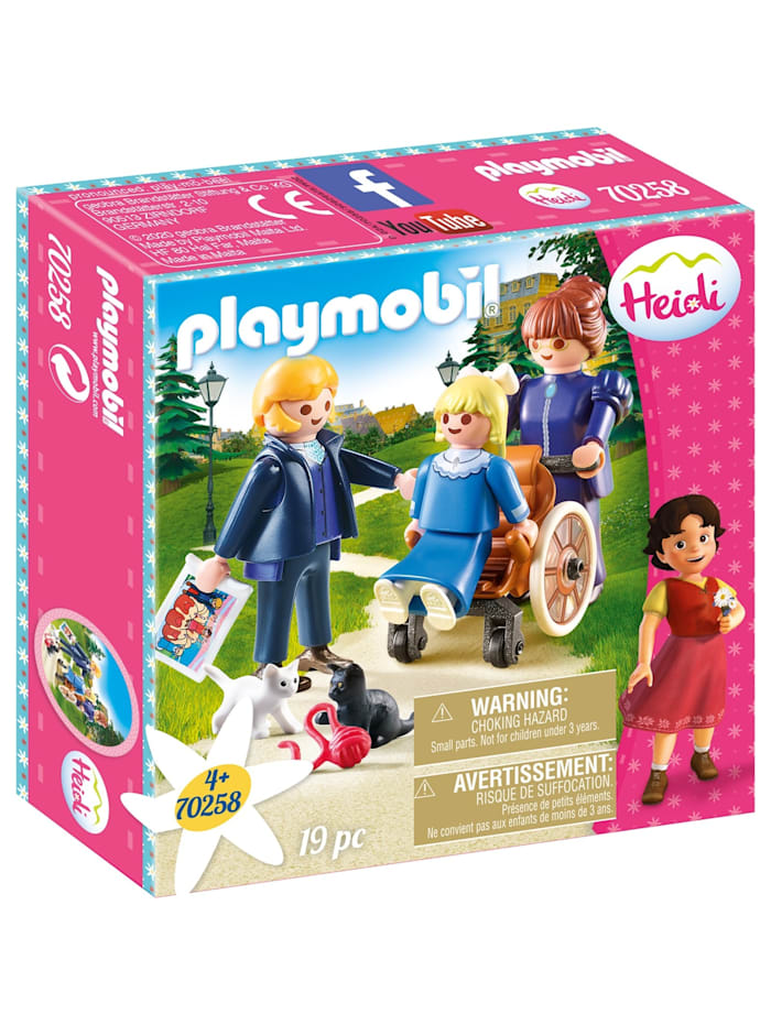 PLAYMOBIL Konstruktionsspielzeug Clara mit Vater und Fräulein Rottenmeier, bunt/multi