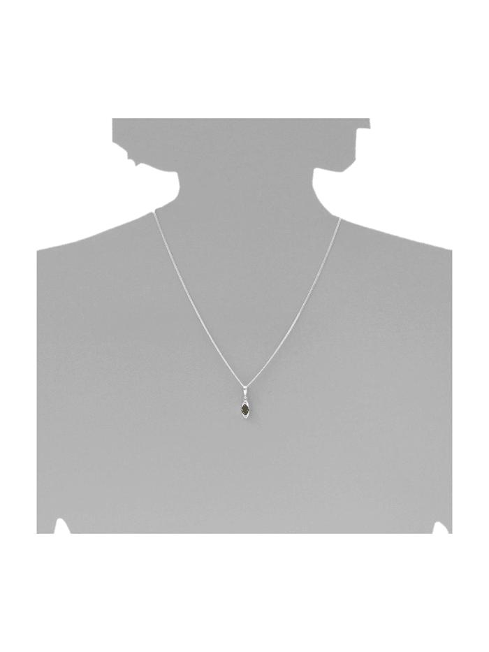 Anhänger - Telia - Silber 925/000 - Bernstein