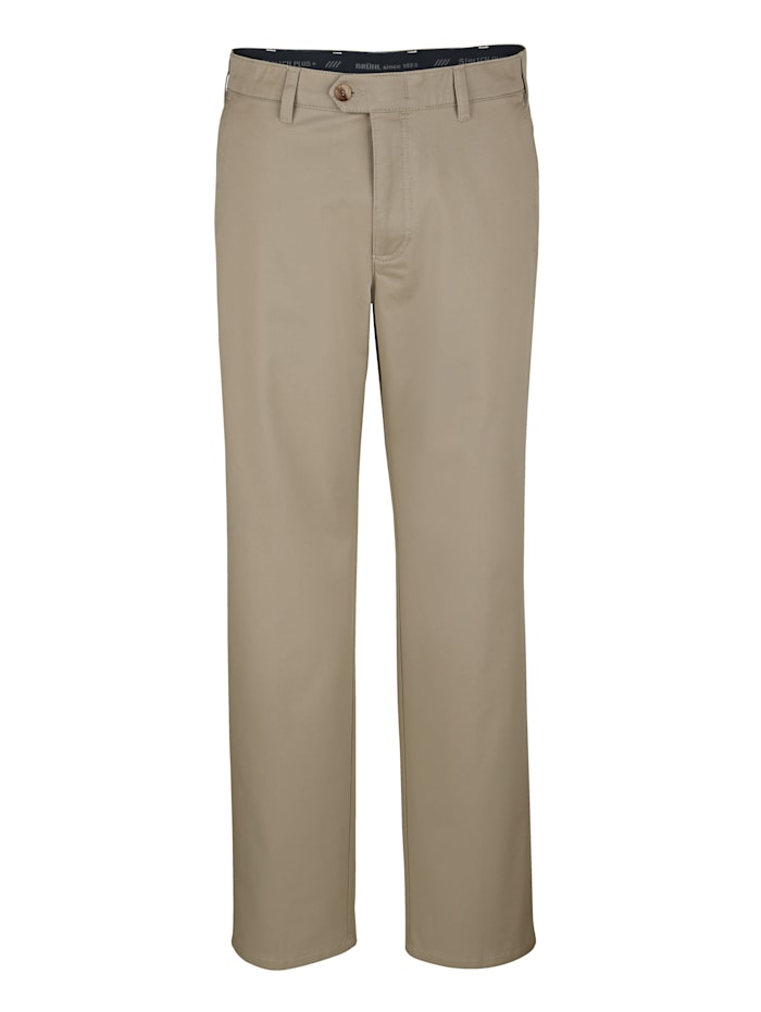 Brühl Pantalon sans pinces tendance, Sable