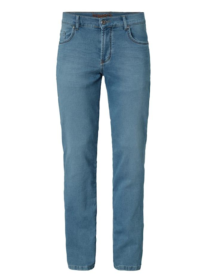 Jogdenimbroek van comfortabel sweatmateriaal in jeanslook