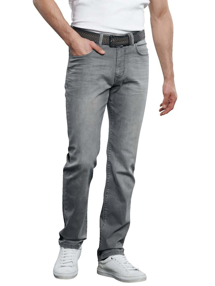 Engbers 5-Pocket-Jeans mit Stretch, Zementgrau