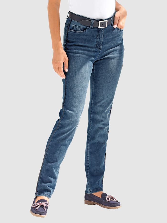 Paola Jeans in Paola Slim model, Blue stone
