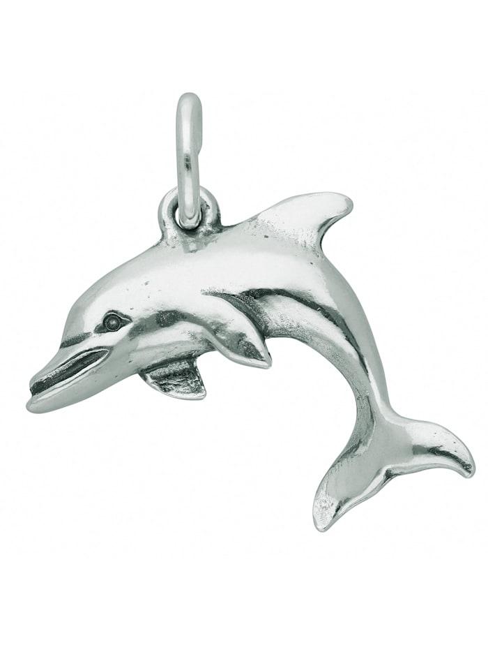 1001 Diamonds Damen Silberschmuck 925 Silber Anhänger Delphin, silber