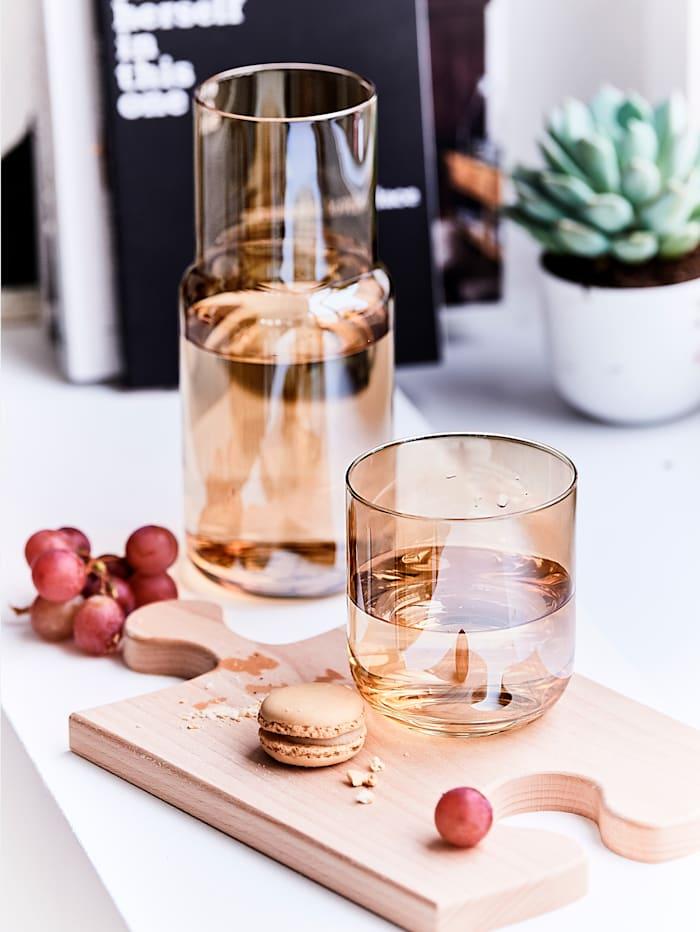 Nachtflasche mit Glas