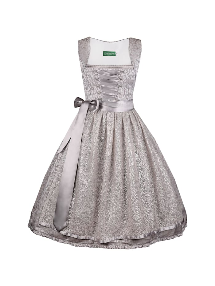 Country Line Midi Dirndl, Silber