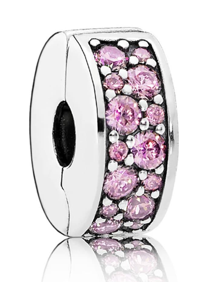 Pandora Charm -Rosafarbener Pavé- 791817PCZ, Rosé