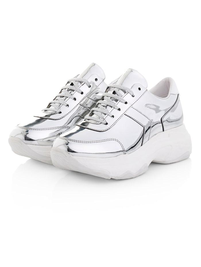 SIENNA Sneaker, Silberfarben