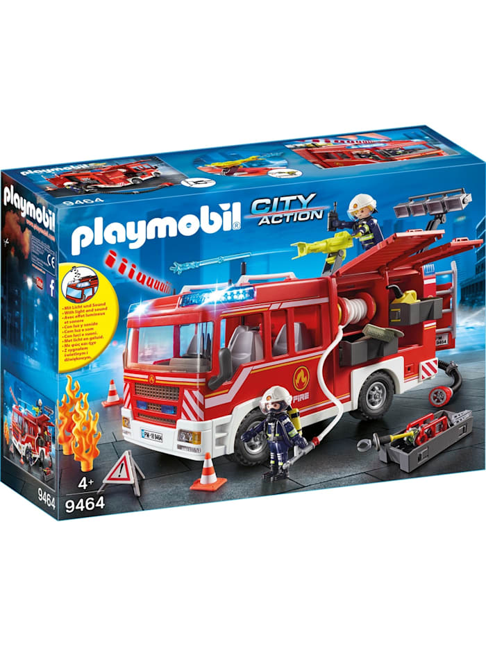 PLAYMOBIL Konstruktionsspielzeug Feuerwehr-Rüstfahrzeug, Rot