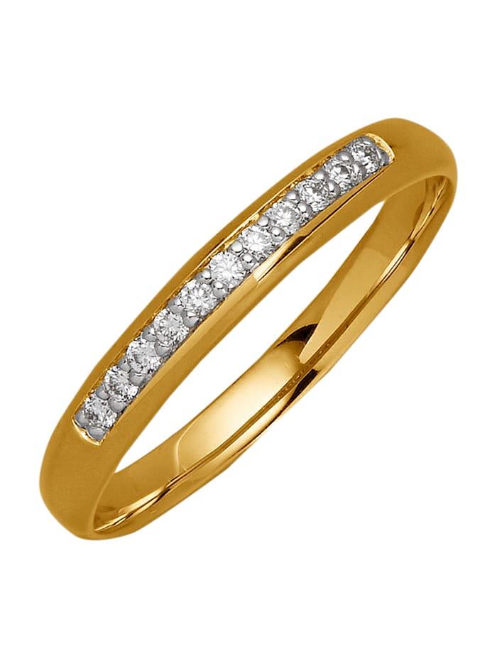Kultainen timanttisormus, Keltakullanvärinen