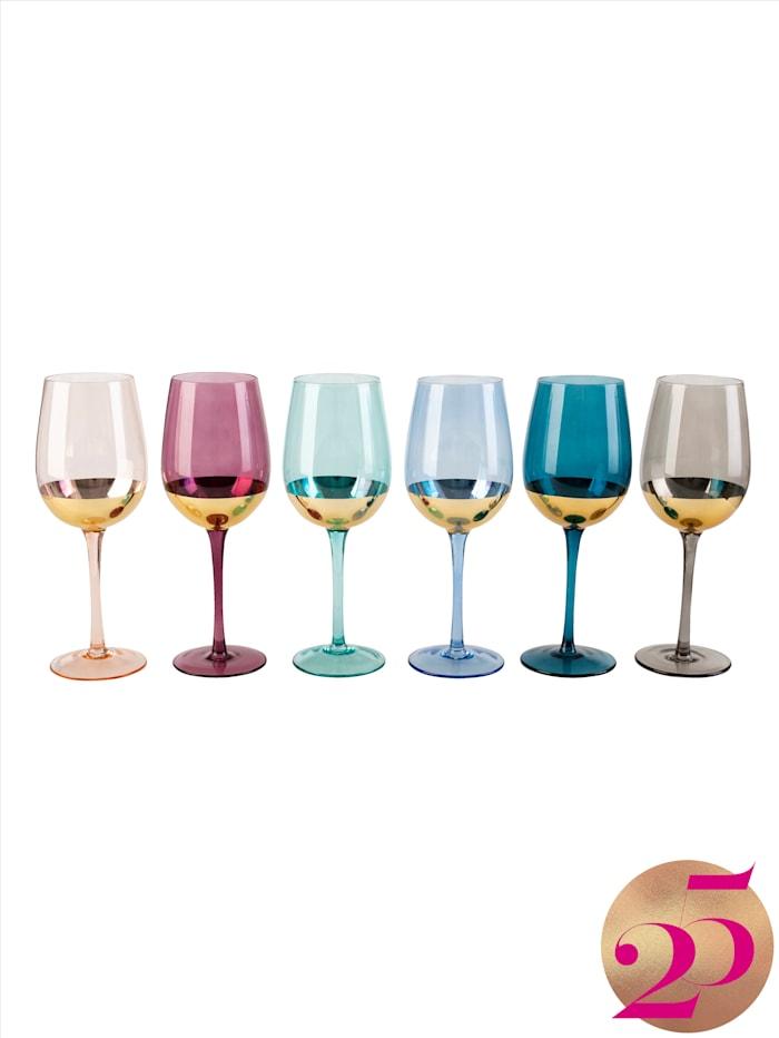 IMPRESSIONEN living Weinglas-Set, 6-tlg., Jubiläumskollektion, Multicolor