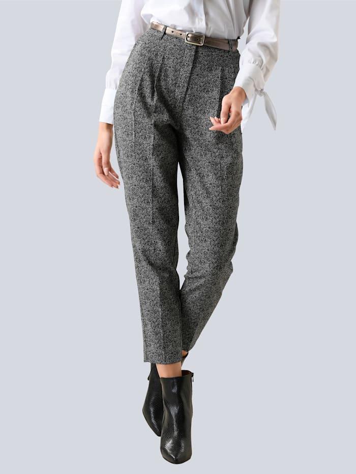Alba Moda Hose mit Bundfalten vorne, Grau