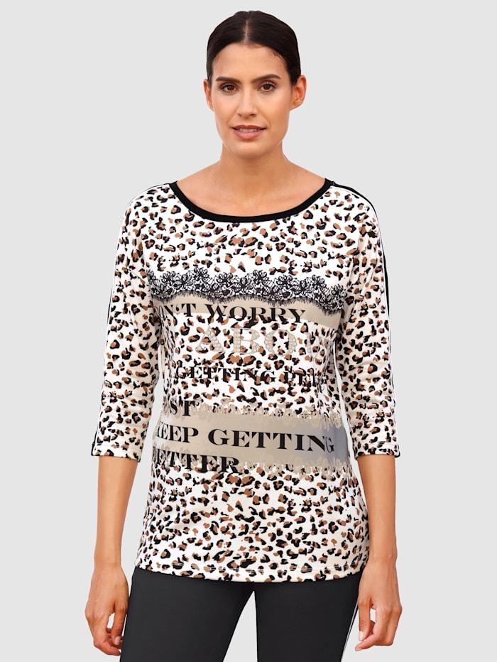 Laura Kent Shirt mit modischem Druck, Weiß