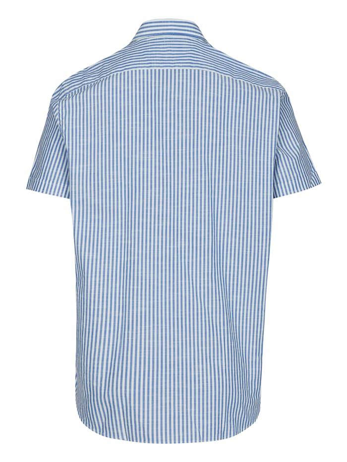 Sommerliches Kurzarm-Hemd mit modischen Streifen