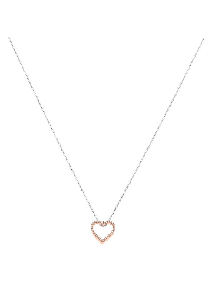 CHRIST Diamonds Damen-Kette 375er Weißgold, 375er Rotgold 34 Diamant