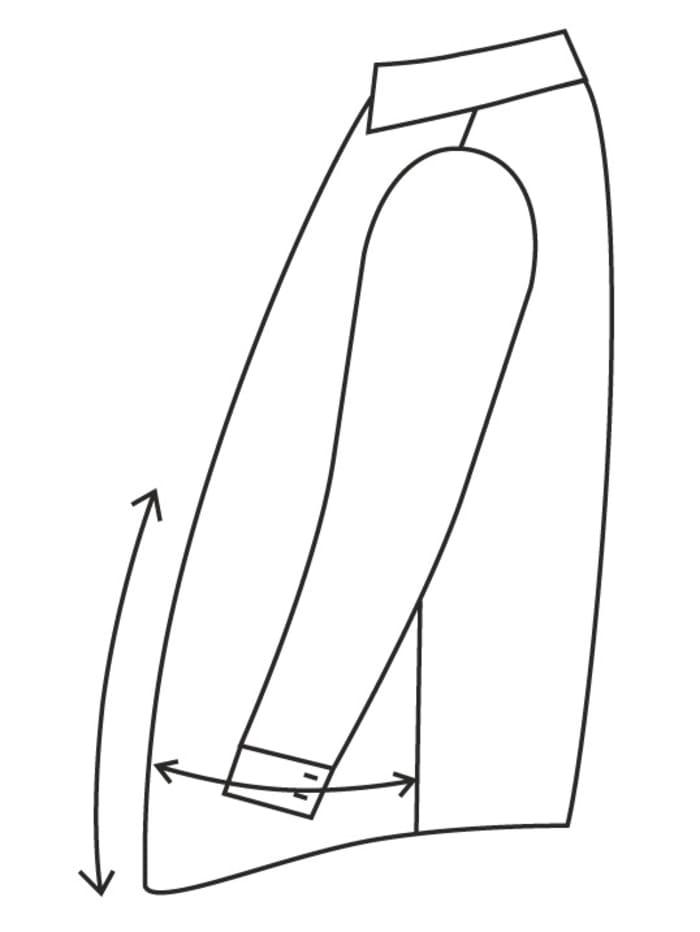 Veste de costume de coupe spéciale ventre