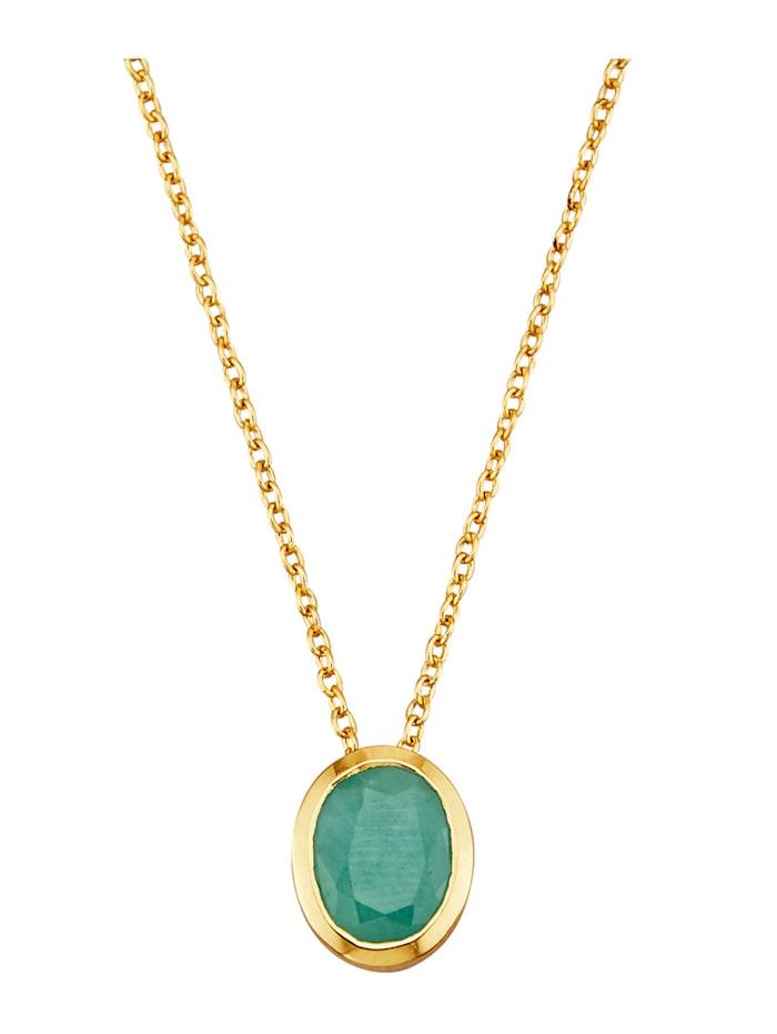 Halsband med smaragd, Grön