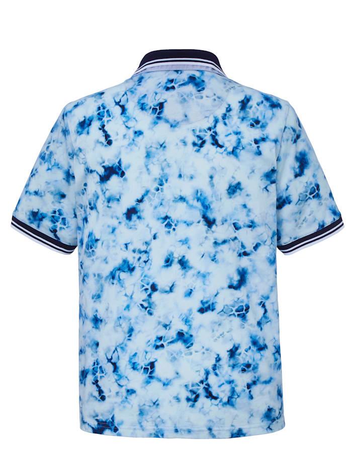 Poloshirt bedruckt im Batik-Stil