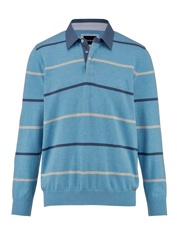BABISTA Pulóver s košeľovým golierom, Modrá