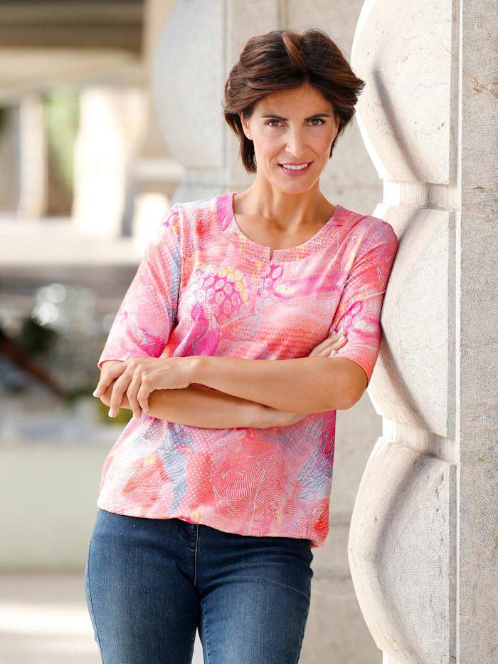 Paola Shirt van RABE, Blauw/Groen/Koraal