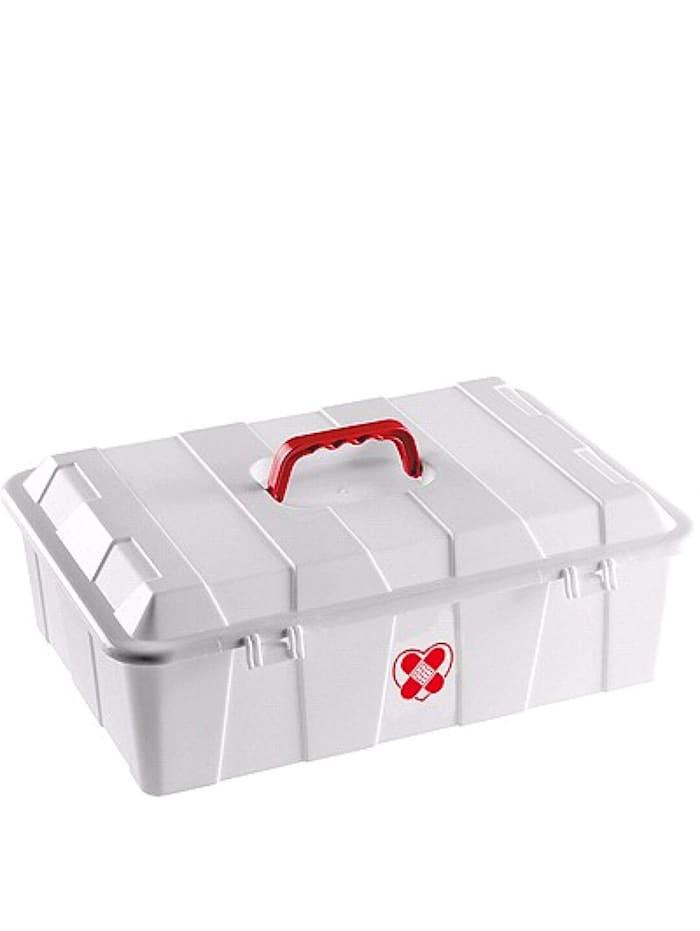 HTI-Living Medizinbox 7 L Erste Hilfe, Transparent, Rot