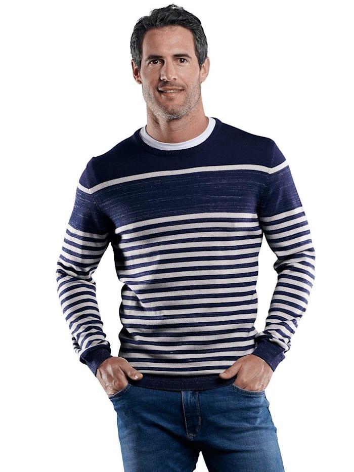Engbers Gestreifter Pullover, Marineblau