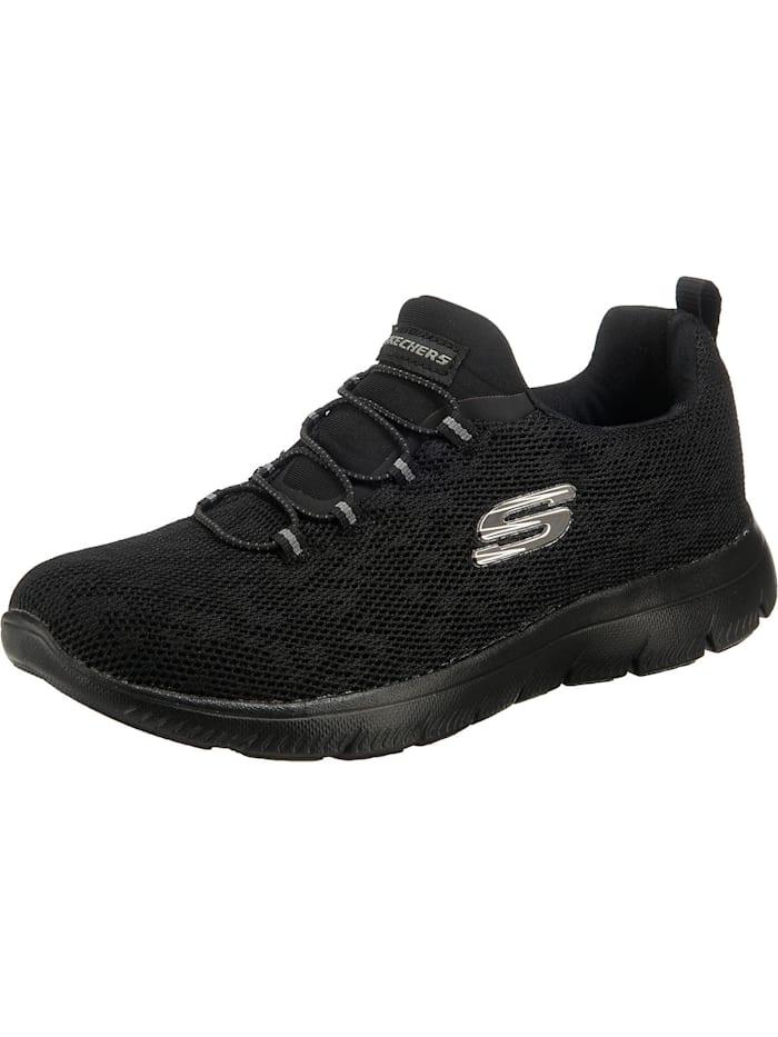 Skechers Summits - Leopard Spot Sneakers Low, schwarz