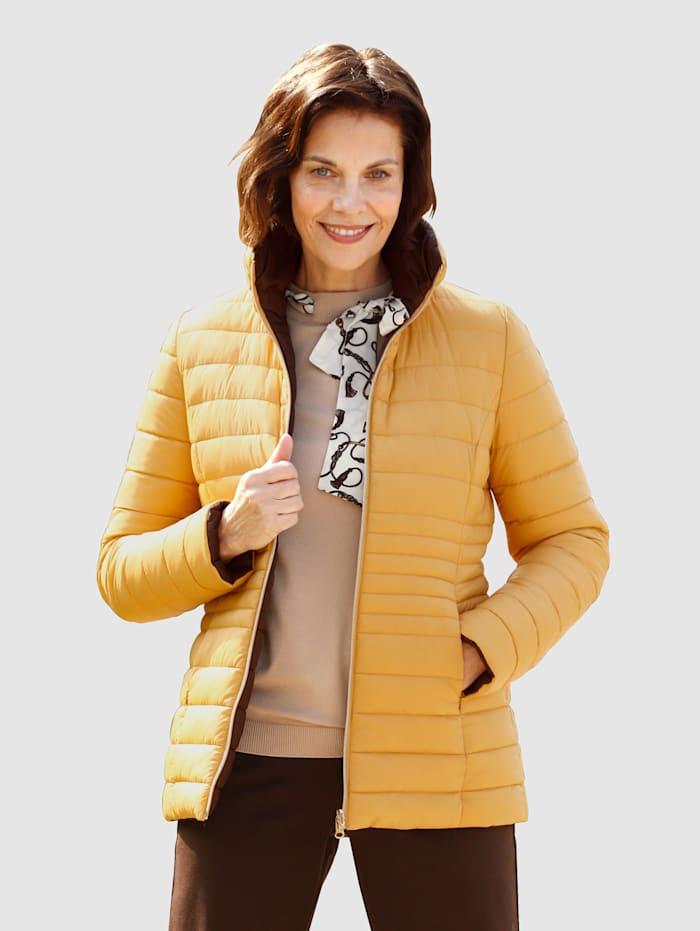 Paola Wendejacke auf beiden Seiten tragbar, Gelb/Dunkelbraun