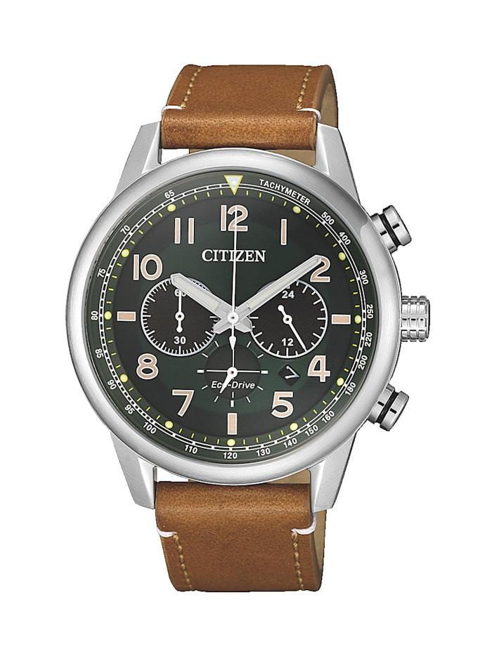Citizen Herrenuhr-Chronograph Eco-Drive CA4420-21X, Braun
