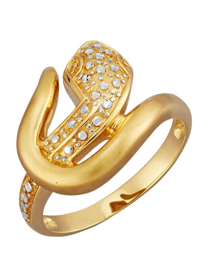 Diemer Gold Schlangen-Ring in Gelbgold 585, Gelbgoldfarben
