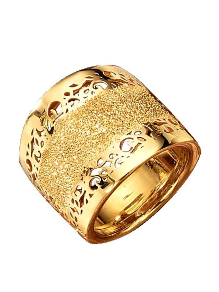 Damenring in Gelbgold, Gelb