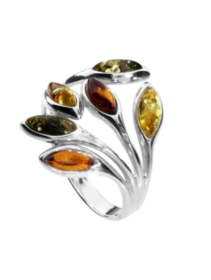 OSTSEE-SCHMUCK Ring - Elena - Silber 925/000 - Bernstein, silber