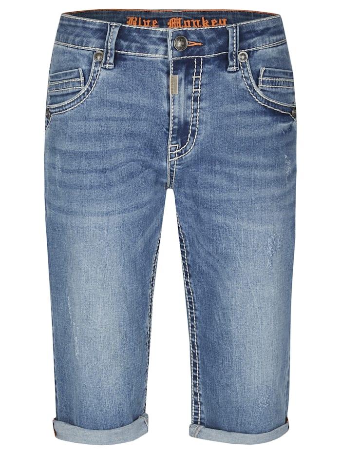 Blue Monkey 3/4 Jeans Freddy, Blau