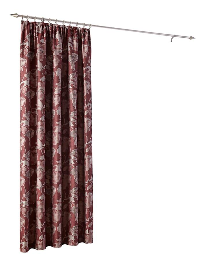 Home Wohnideen Dekoračná záclona 'Marlin', Bordová