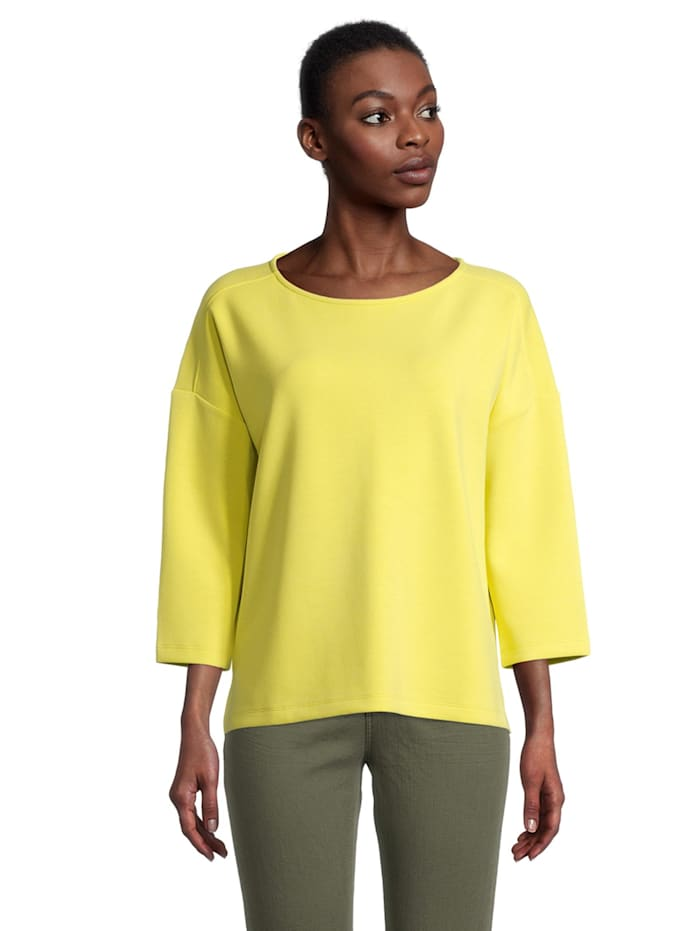 Cartoon Casual-Sweatshirt mit Seitenschlitzen, Sunny