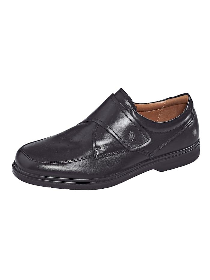 Roger Kent Klittenbandschoen in klassieke stijl, Zwart