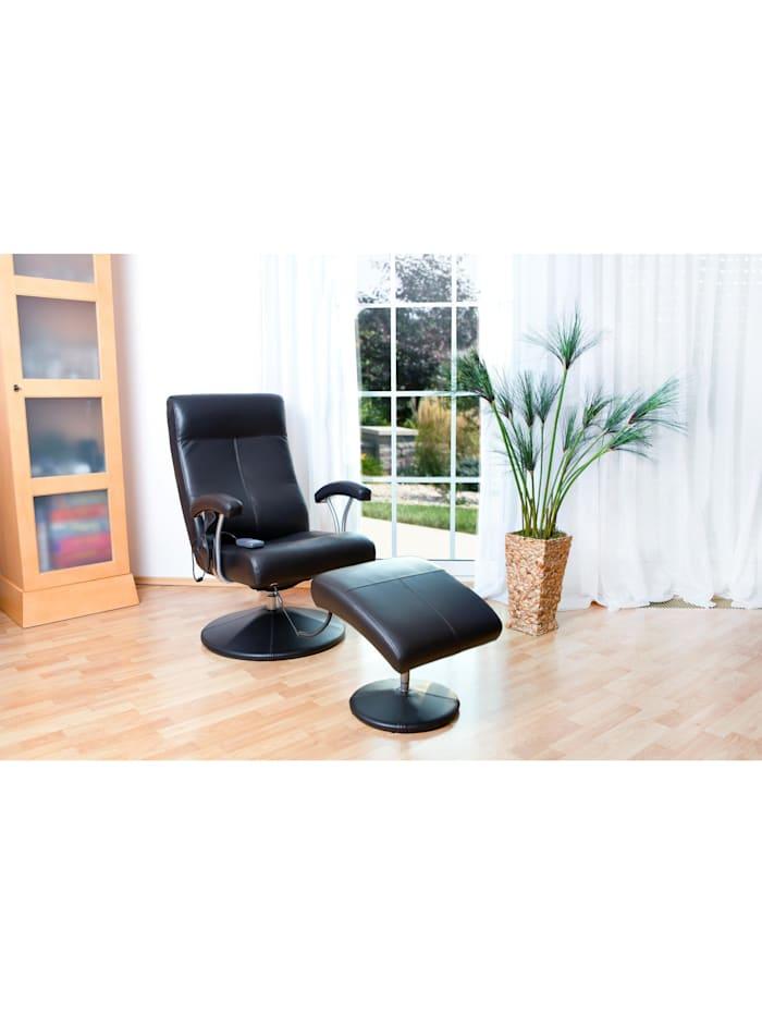 Fernsehsessel Relaxsessel Wärmefunktion Massage schwarz