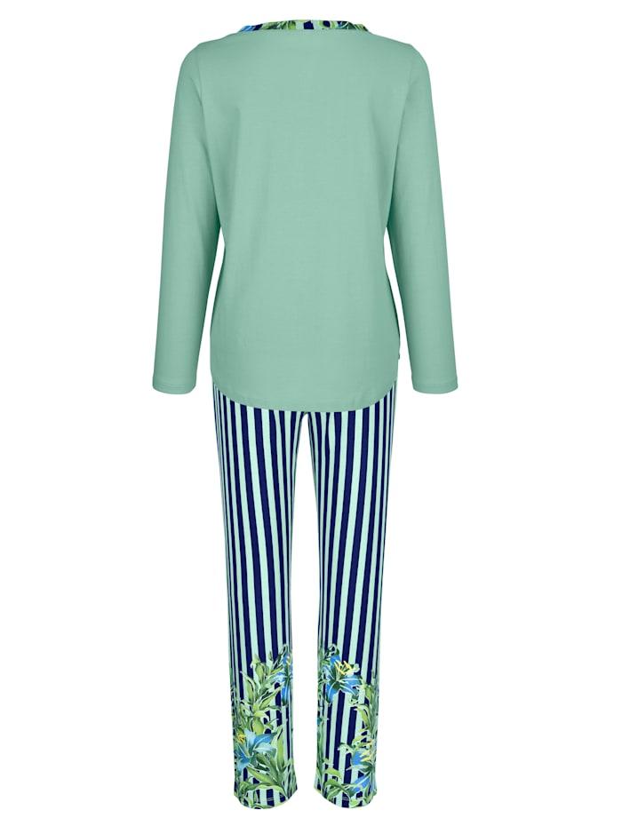 Pyjama à imprimé floral aux bas des jambes