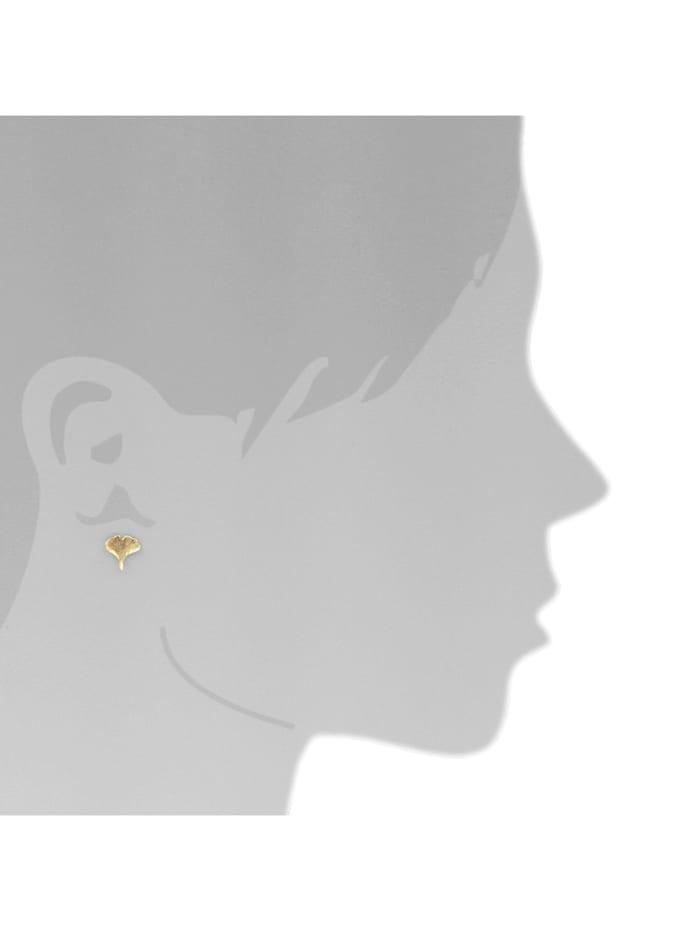 Ohrstecker - Ginkgoblatt - Gold 333/000 - ,